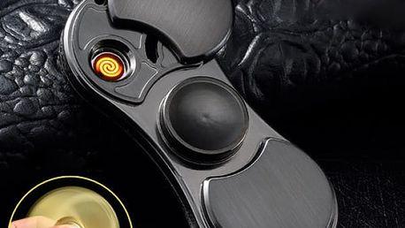 Originální zapalovač a kovový Fidget Spinner 2v1