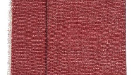 IB LAURSEN Bavlněný běhoun na stůl Red, červená barva, textil