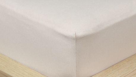 4Home Jersey prostěradlo s elastanem šedá, 160 x 200 cm