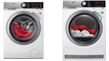 Set (Sušička prádla AEG AbsoluteCare® T8DEE48SC) + (Automatická pračka AEG ÖKOMix® L8FEC68SC) + DOPRAVA ZDARMA