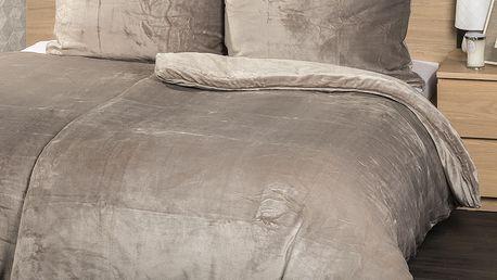 4Home povlečení mikroflanel šedá, 140 x 220 cm, 70 x 90 cm