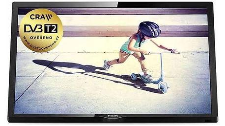 Televize Philips 24PFT4022/12 černá + Doprava zdarma