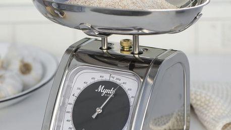 IB LAURSEN Kuchyňská váha Mynte silver, stříbrná barva, kov