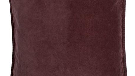 IB LAURSEN Povlak na polštář Velvet Aubergine 50x50 cm, červená barva, fialová barva, textil