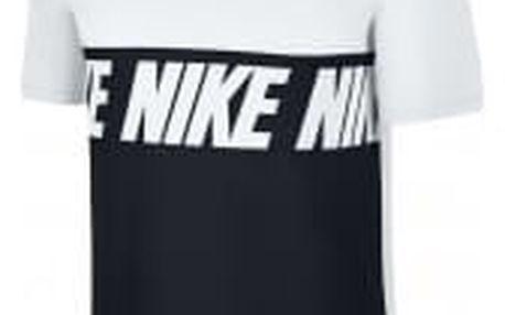 Pánské tričko Nike M NSW TEE AV15 BLK REPEAT   856475-100   Bílá, Černá   L