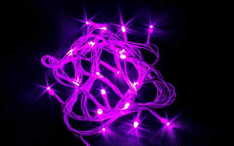 Vánoční řetěz LED osvětlení 10m, 100 LED, kabel zelený