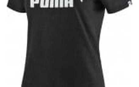 Dámské tričko Puma ESS No.1 Tee Heather W Dark Gr   838399-07   Černá   L