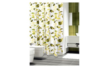 Bellatex Sprchový závěs Rostliny zelená, 180 x 200 cm