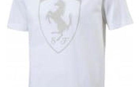Pánské tričko Puma Ferrari Big Shield Tee Wh bílé   572805-04   Bílá   XL