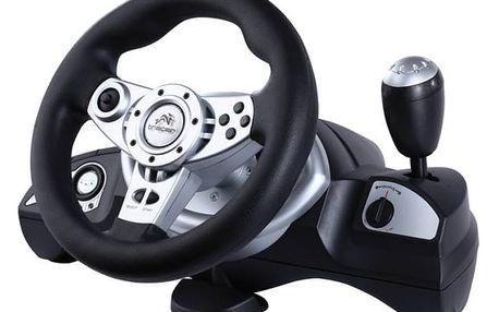 Volant Tracer Zonda + pedály pro PC, PS, PS2, PS3 (TRAJOY39707) černý + Doprava zdarma