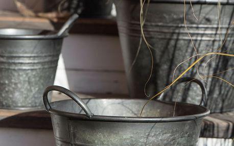 IB LAURSEN Plechový kyblík Urban Garden Velikost L, šedá barva, kov
