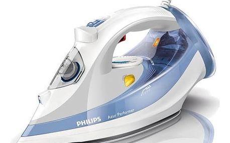 Žehlička Philips Azur Performer GC3802/20 bílá/modrá
