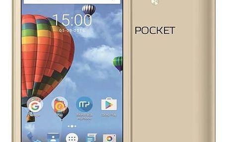 Mobilní telefon myPhone POCKET (TELMYAPOCKETGO) zlatý Software F-Secure SAFE 6 měsíců pro 3 zařízení (zdarma)