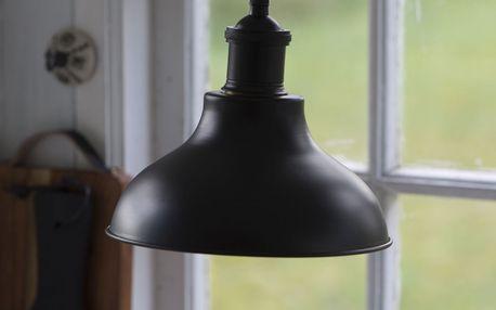 IB LAURSEN Kovový industriální lustr Matt Black, černá barva, kov