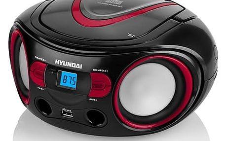 Radiopřijímač s CD Hyundai TRC 533 AU3BR černý/červený