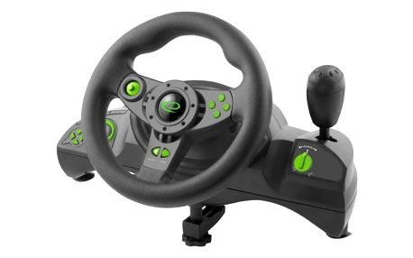 Volant Esperanza EGW102 Nitro pro PC, PS3 + pedály (EGW102 - 5901299946893) černý + DOPRAVA ZDARMA