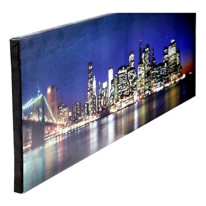 Hedvábné lesklé fotoplátno s fotografií na dřevěném rámu