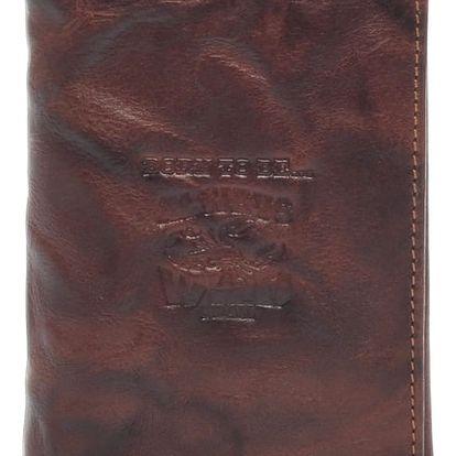 Pánská kožená peněženka hnědá - WILD Destin hnědá
