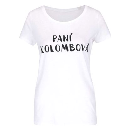 Bílé dámské tričko ZOOT Originál Paní Kolombová