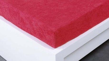 XPOSE ® Froté prostěradlo dvoulůžko - malinová 180x200 cm