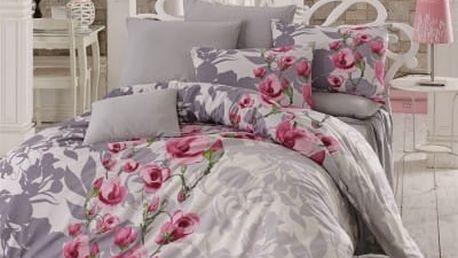 Night in Colors Francouzské bavlněné povlečení LAMIE - lila 200X220, 70x90