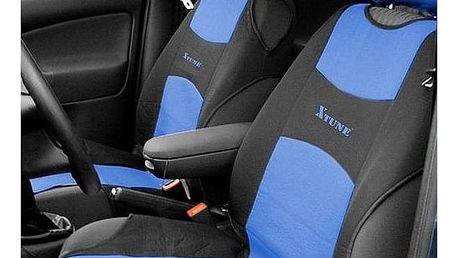 Potah sedadel Compass TRIKO přední 2 ks modrý