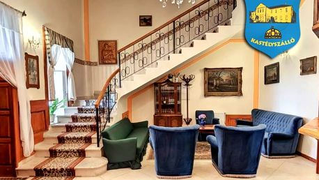 Luxusně na zámku nedaleko jezera Hévíz i Balatonu s polopenzí a wellness – platnost až do prosince 2018