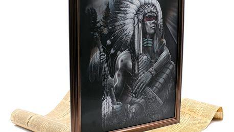 Poslední Mohykán - Lentikulární 3D obraz indián