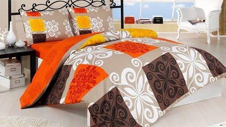 Night in Colors Bavlněné povlečení SEDEF - oranžová 140x200, 70x90