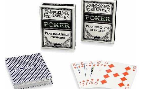 Garthen No92 525 Sada 2 ks Poker karet 100% plast