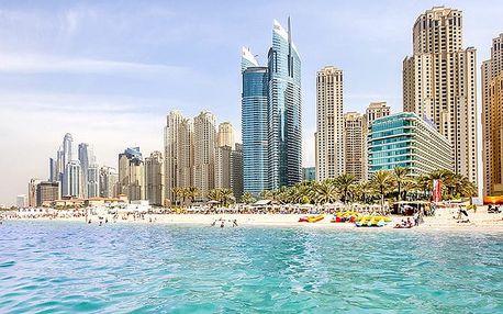 Hotel Hilton Dubai Jumeirah Beach, Dubaj, Spojené arabské emiráty, letecky, snídaně v ceně