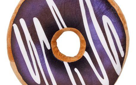 Jahu Tvarovaný polštářek Donut fialová, 38 cm