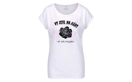 Bílé dámské tričko ZOOT Originál Vy jste na káry-já na hadry