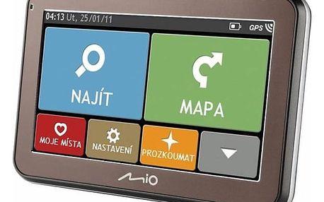 Navigační systém GPS Mio Spirit 5400 CZ/SK Lifetime černá