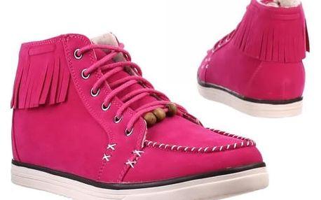 Pohodlné dámské boty na tkaničky, vel. 36-39