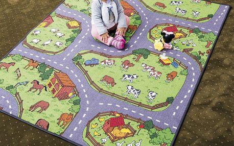 Vopi Dětský koberec Farma