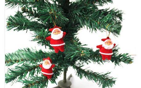 Santa Claus ozdoba 3 ks - VÝPRODEJ!