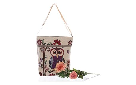 Fashion Icon Kabelka RED OWL s sovičkou crossbody