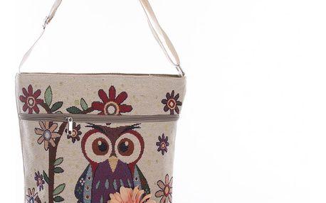 Fashion Icon Kabelka RED OWL s sovičkou crossbody