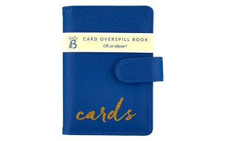 Busy B Pouzdro na karty a doklady Fashion, modrá barva, zlatá barva, plast, kůže