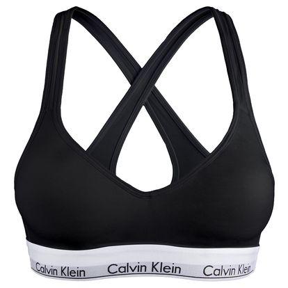 Dámská sportovní podprsenka Calvin Klein modern cotton lift černá L
