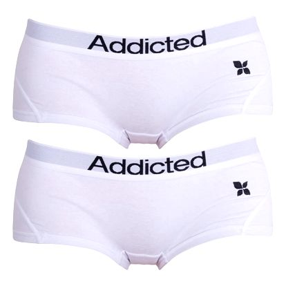 2PACK Dámské Kalhotky Addicted Bílá L