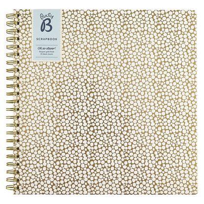 Busy B Scrapbook na vzpomínky Contemporary, zlatá barva, textil