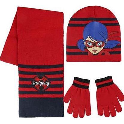 Čepice, šál a rukavice Lady Bug 189