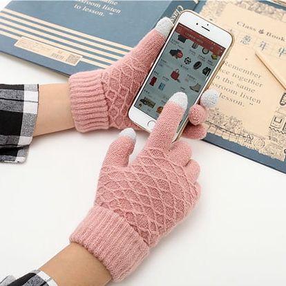 Vzorované vlněné rukavice na dotykový displej: 6 barev
