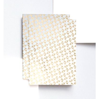 ola Notýsek v šité vazbě Victor Brass A6 - 80 stran, šedá barva, zlatá barva, papír