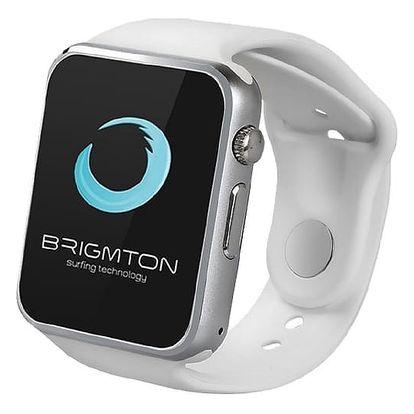 Chytré hodinky BRIGMTON BWATCH-BT4B 1.54in 55 g Stříbřitý Bílý
