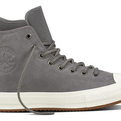 Converse šedé kožené pánské tenisky Chuck Taylor All Star Ctas WP Boot Hi