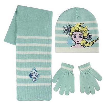 Čepice, šál a rukavice Frozen 164