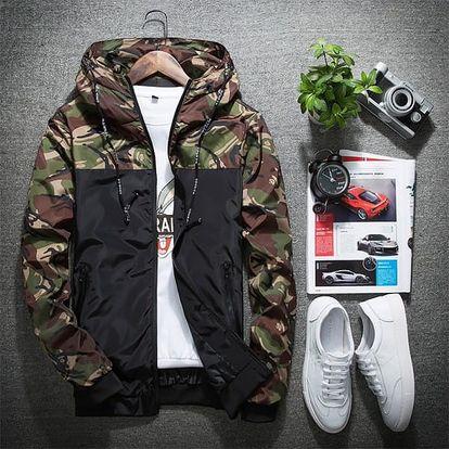 Pánská bunda s maskáčovým vzorem - 3 barvy